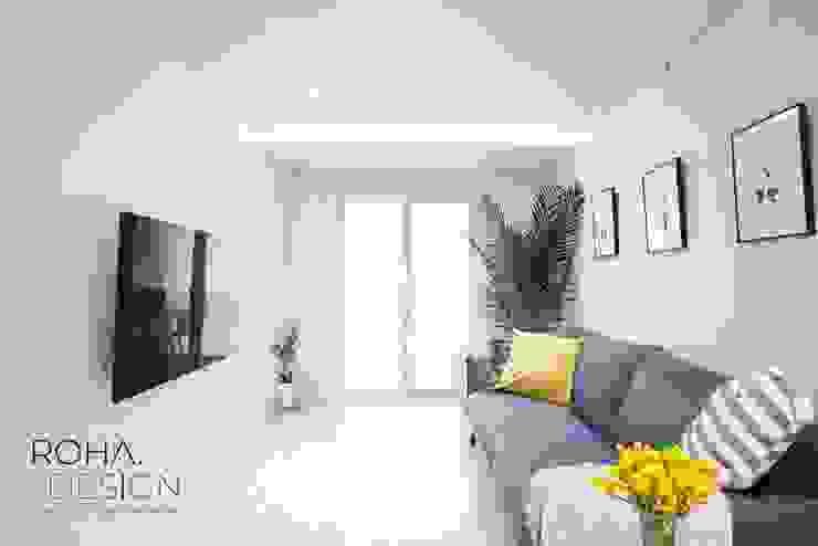 부산 신혼집 인테리어 – 24평 아파트 인테리어 스칸디나비아 거실 by 로하디자인 북유럽