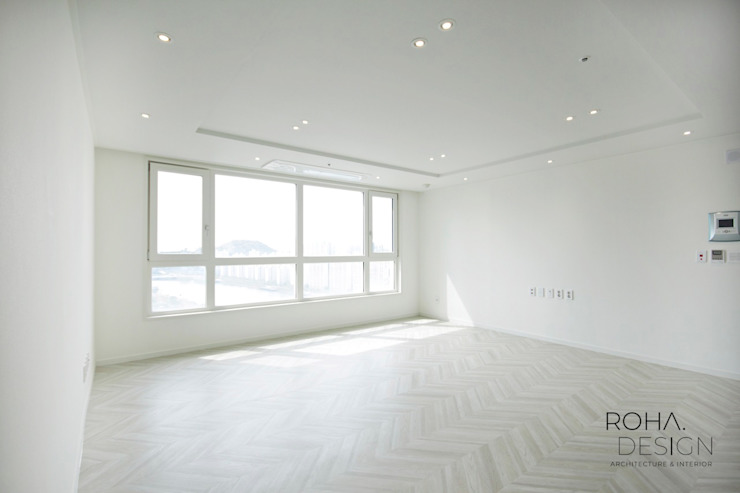 부산 더샵센텀파크 인테리어 – 40평 아파트 인테리어 모던스타일 거실 by 로하디자인 모던