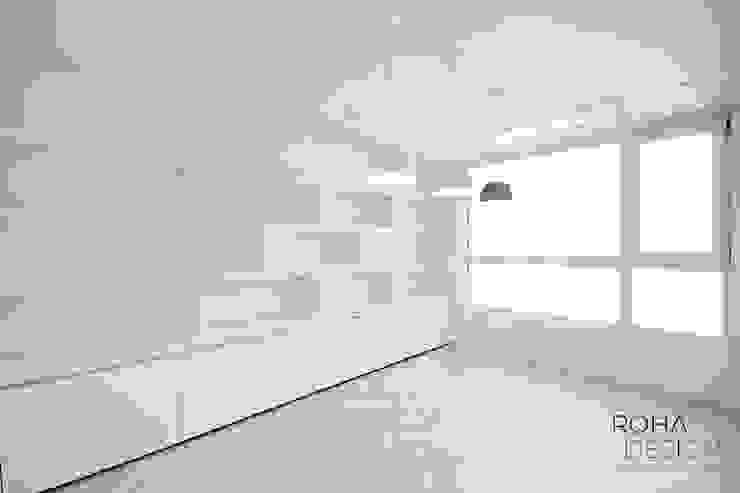 부산 더샵센텀파크 인테리어 – 40평 아파트 인테리어 모던스타일 미디어 룸 by 로하디자인 모던