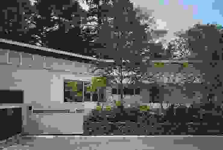 中軽井沢:原生林にいだかれ、暖炉のある伸びやかな住まい モダンな 家 の JWA,Jun Watanabe & Associates モダン