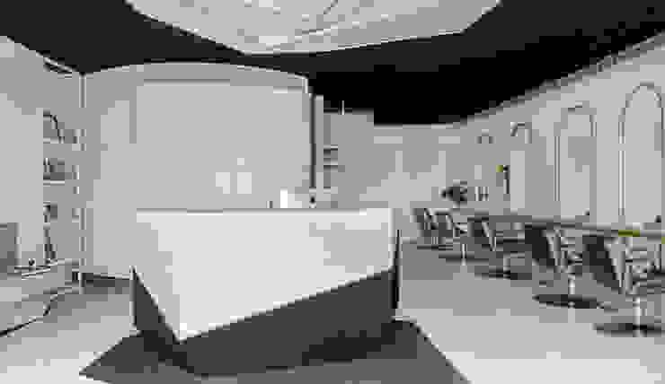 黑白金的設計:  辦公空間與店舖 by 漢玥室內設計
