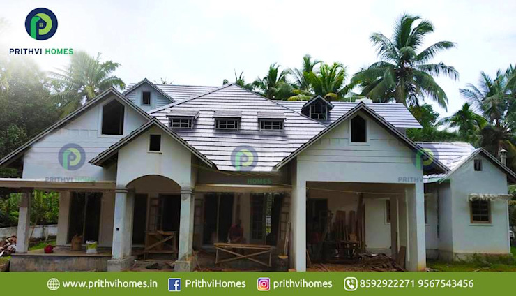Leading house builders thrissur Prithvi Homes Balcony