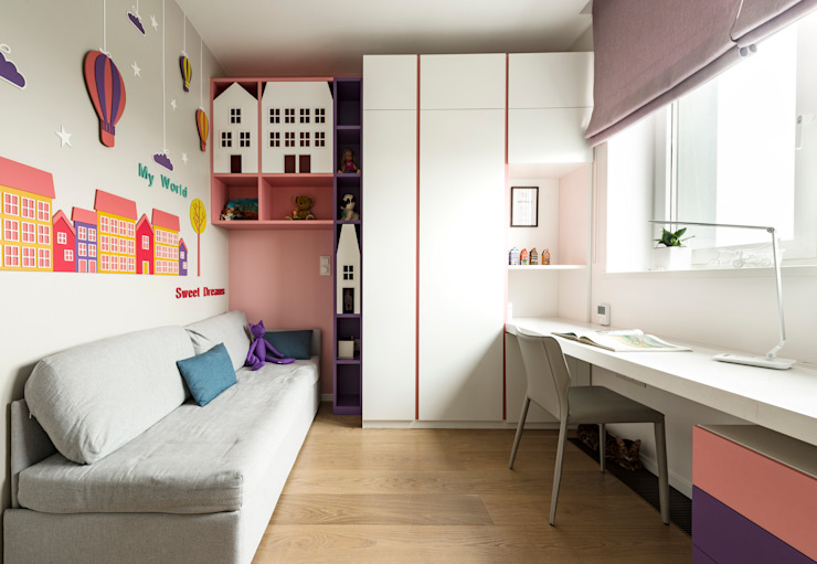 Nursery/kid's room by os.architects,