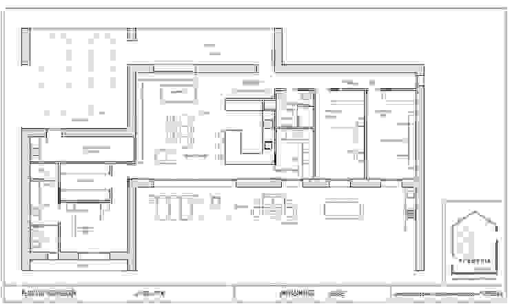 Plano de distribución de arQmonia estudio, Arquitectos de interior, Asturias Mediterráneo