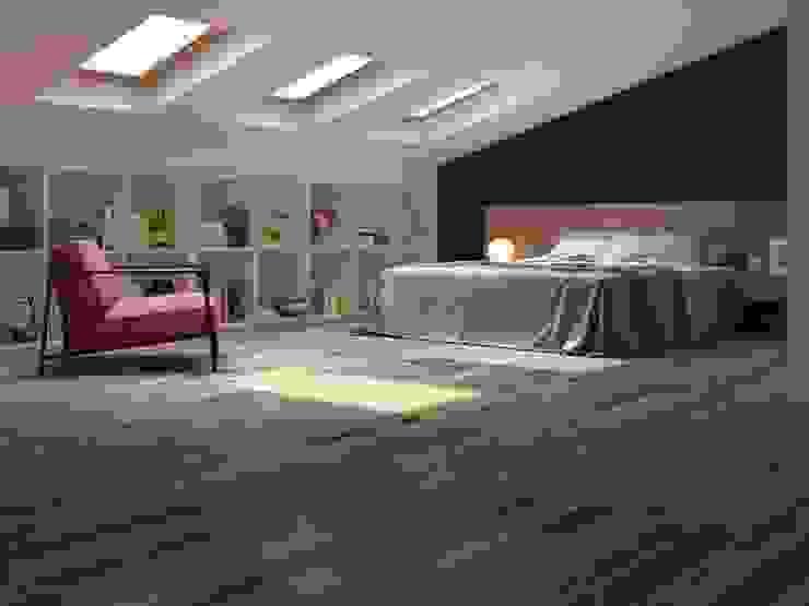 Recámara juvenil estilo madera Interceramic MX Dormitorios rústicos Cerámico Acabado en madera