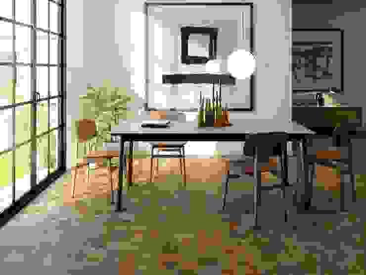Comedor con cerámica estilo madera Comedores de estilo rústico de Interceramic MX Rústico Cerámico