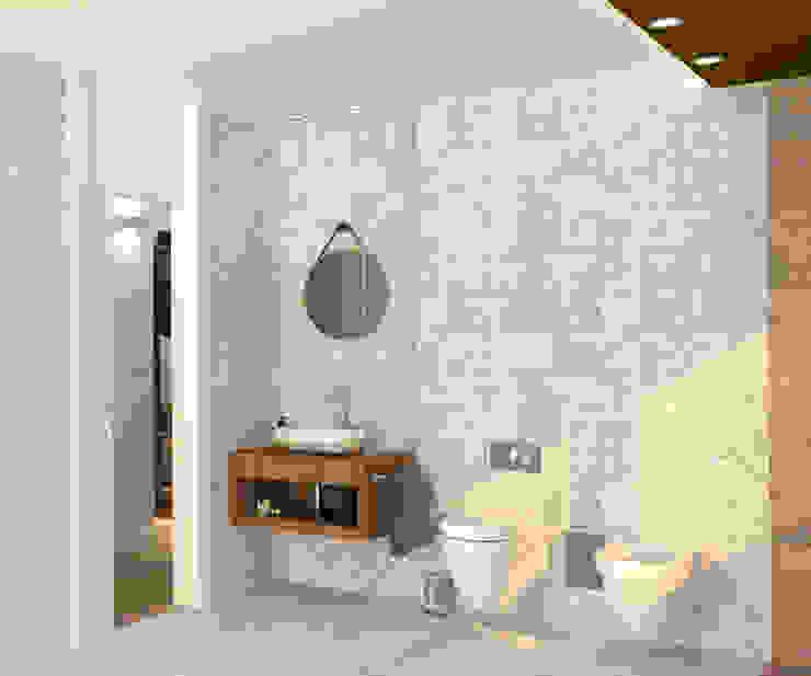 arQmonia estudio, Arquitectos de interior, Asturias 現代浴室設計點子、靈感&圖片