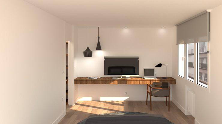arQmonia estudio, Arquitectos de interior, Asturias Moderne Schlafzimmer