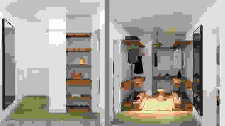 arQmonia estudio, Arquitectos de interior, Asturias 更衣室
