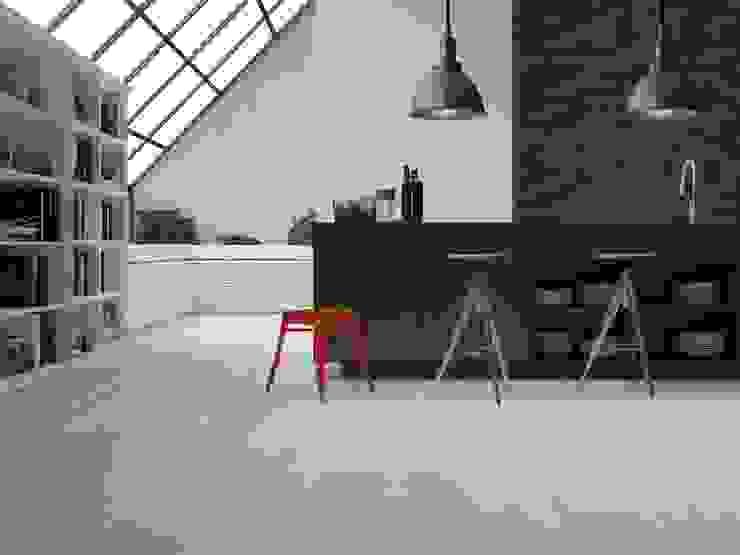 Cocina estilo madera color blanco Interceramic MX Cocinas modernas Cerámico Blanco