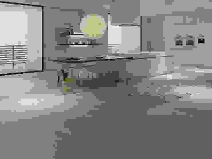 Cocina con estilo cemento Interceramic MX Cocinas modernas Cerámico Gris