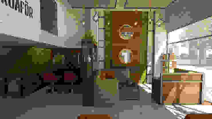Duvar Dekor Uygulaması Rustik Oturma Odası Emre Bayraktar Rustik Yönlendirilmiş Yonga Levha