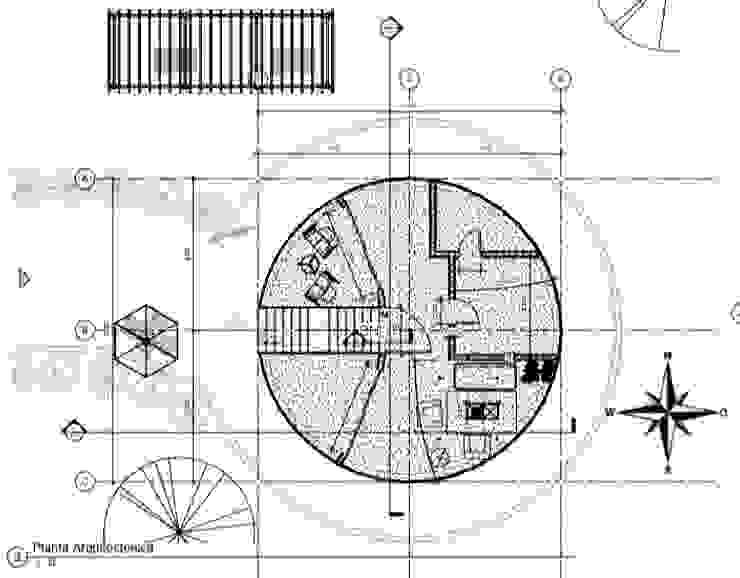 planta arquitectónica de ARCHIMINIMAL ESTUDIO Minimalista Concreto