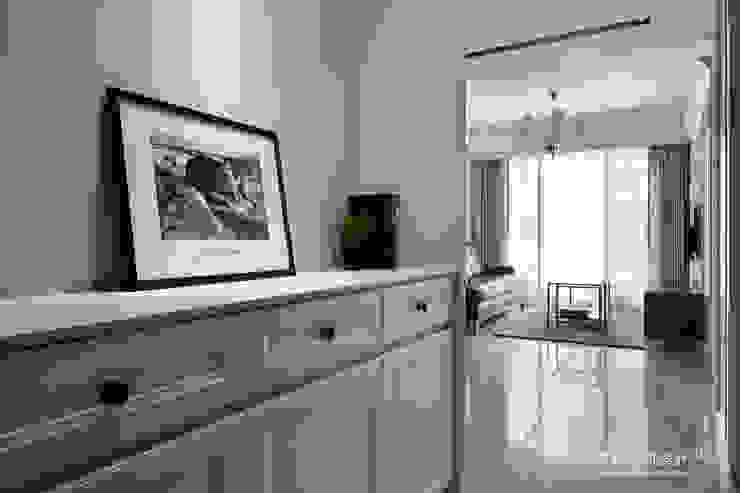 新北市 淡水區 劉公館 顥岩空間設計 斯堪的納維亞風格的走廊,走廊和樓梯