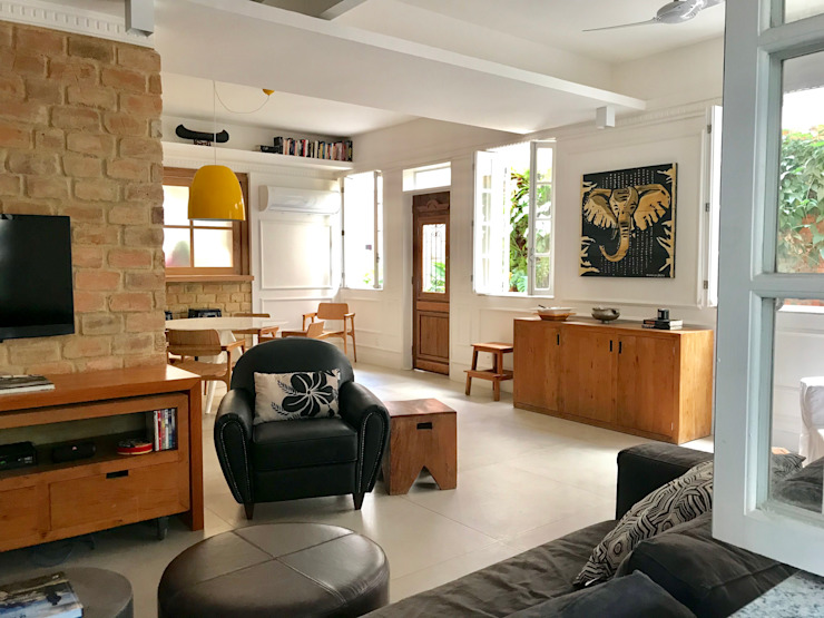 Maria Claudia Faro Modern Living Room Concrete Grey