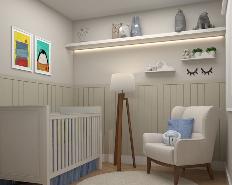 Studio MP Interiores Baby room MDF Beige