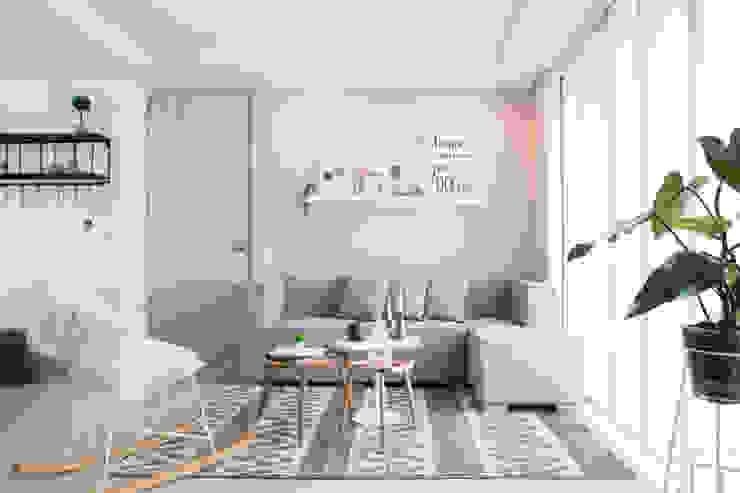 Casa de Tres Scandinavian style living room