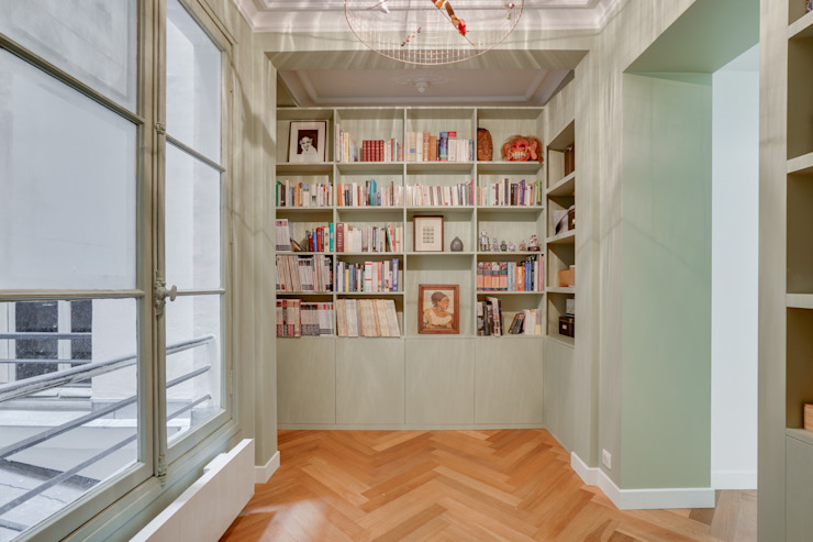 Agence KP Modern corridor, hallway & stairs Wood Green