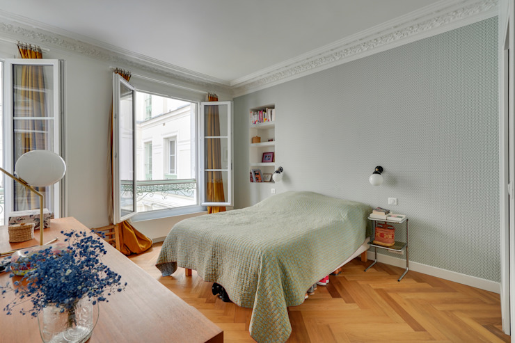 Agence KP Small bedroom Wood