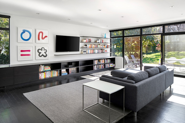 Modern living room by KUBE architecture Modern