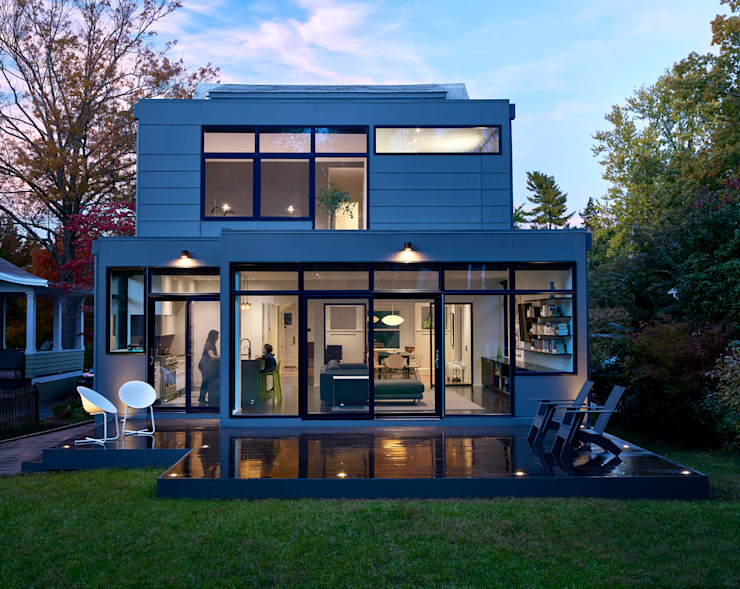 Back 2 Back Modern Houses by KUBE architecture Modern