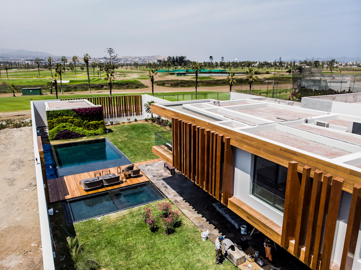 Modern houses by DOF Arquitectos Modern Wood Wood effect