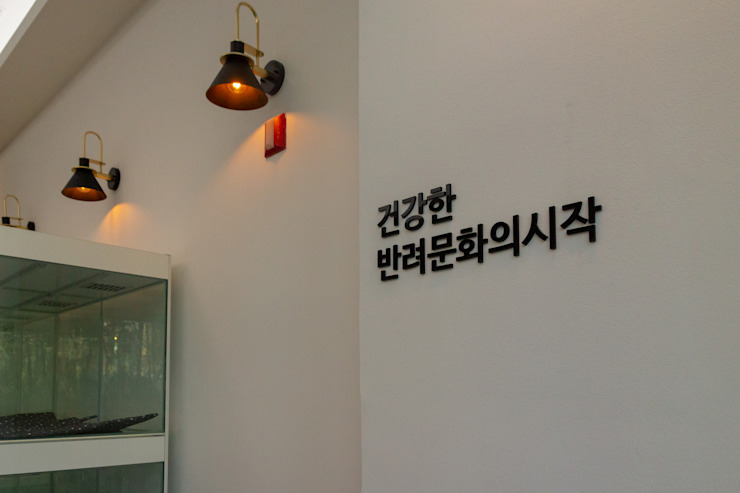모던한 디자인의 애견 프랜차이즈 잠실점 by 그리다집