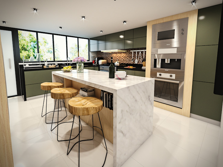PAR Arquitectos Built-in kitchens Aluminium/Zinc White
