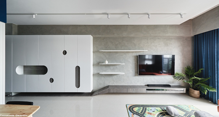 Minimalistische woonkamers van 思維空間設計 Minimalistisch