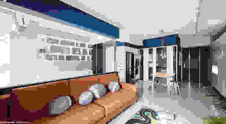 Ruang Keluarga Minimalis Oleh 思維空間設計 Minimalis