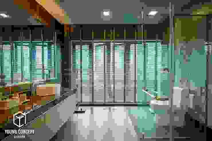 Semi-D @ Bukit Segar Young Concept Design Sdn Bhd Modern style bathrooms