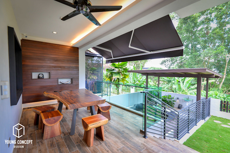 Young Concept Design Sdn Bhd Modern balcony, veranda & terrace