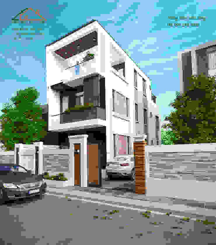 Nhà phố 2 tầng chỉ với 500 triệu phù hợp với các cặp vợ chồng trẻ bởi Công ty CP kiến trúc và xây dựng Eco Home