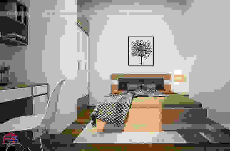 Hình ảnh thiết kế 3D nội thất phòng ngủ của bé nhà chị Lâm Anh - Xuân La: hiện đại  by Nội thất Hpro, Hiện đại