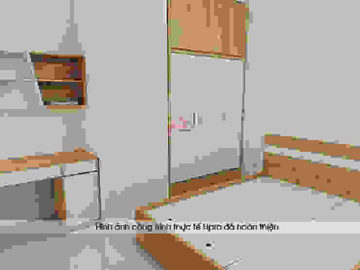 Hình ảnh thực tế không gian phòng ngủ của bé nhà chị Lâm Anh - Xuân La: hiện đại  by Nội thất Hpro, Hiện đại