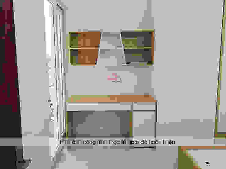 Hình ảnh thực tế không gian nội thất gỗ melamine trong phòng ngủ của bé nhà chị Lâm Anh - Xuân La: hiện đại  by Nội thất Hpro, Hiện đại