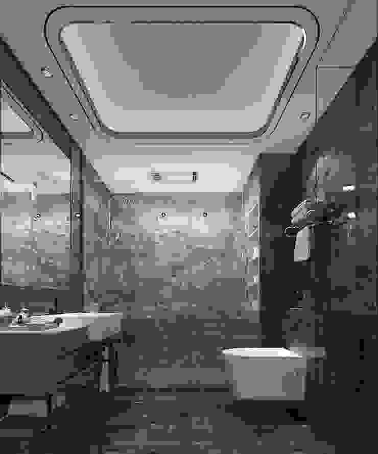 Villa Oturma Odası ve Banyo Tasarımı Modern Banyo Lego İç Mimarlık & İnşaat Dekorasyon Modern Seramik