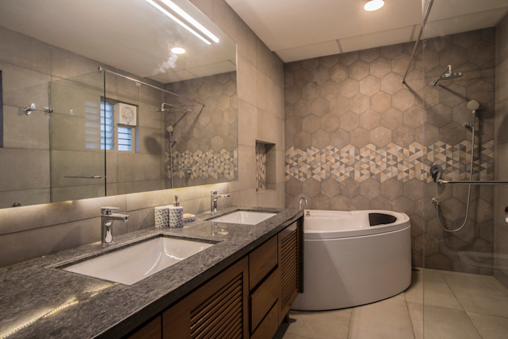 Master Bathroom Modern bathroom by Kamat & Rozario Architecture Modern