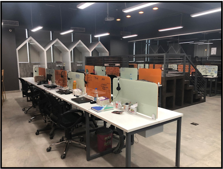 Work Station Modern offices & stores by Ecoinch Services Private Limited Modern