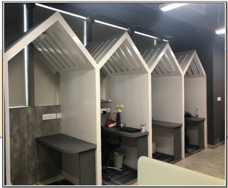 Open Cabins Modern offices & stores by Ecoinch Services Private Limited Modern