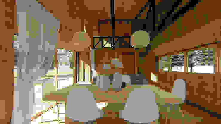 casa rural - Arquitectos en Coyhaique Comedores de estilo rural