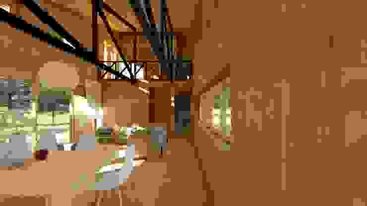 casa rural - Arquitectos en Coyhaique Salones de estilo rural