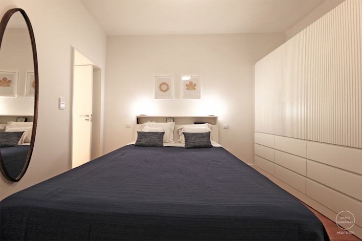 Modern style bedroom by Matos + Guimarães Arquitectos Modern