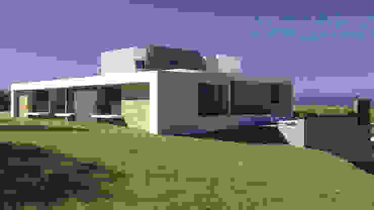 Fachada Lateral derecha Casas modernas de B estudio Moderno