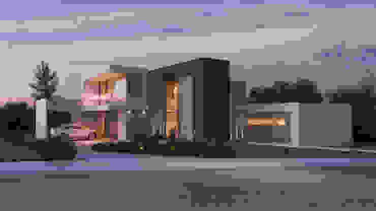 Fachada principal Casas modernas de B estudio Moderno