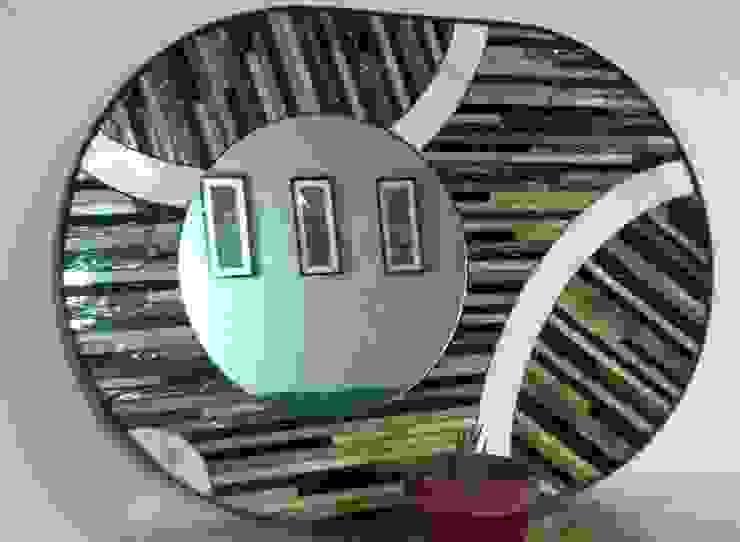 Espejo cafe: Arte de estilo  por MKVidrio,