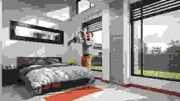 Vista Habitación P. Habitaciones modernas de Solsiem Constructora SAS Moderno