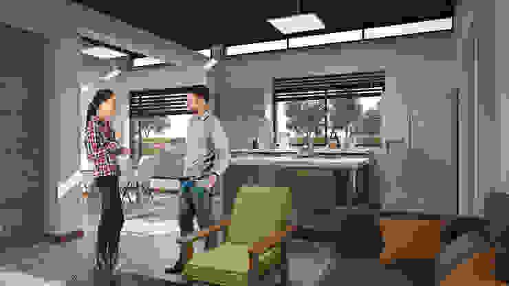 Vista Zonas Sociales 1 Cocinas modernas de Solsiem Constructora SAS Moderno