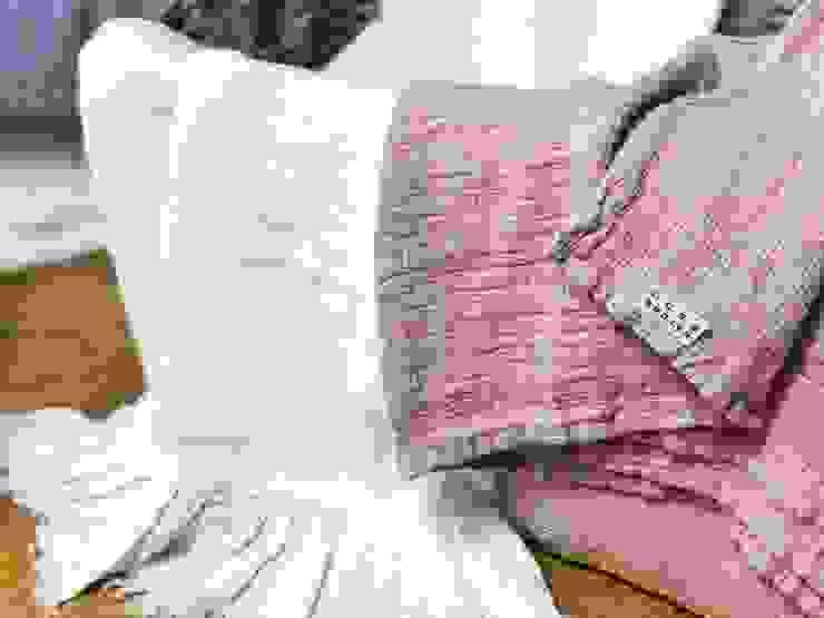 Rustykalny ręcznik waflowy z lnu od NatureBed Rustykalny Len Różowy