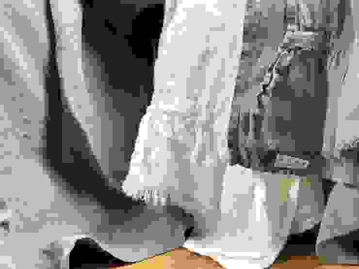 Lniany ręcznik z falbanką od NatureBed Rustykalny Len Różowy